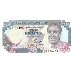 1989 - Zambia   Pic  31b  10 Kwacha