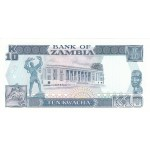 1989 banknote10 Kwacha Zambia banknote p31b