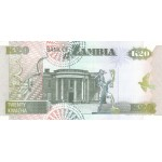 1992 - Zambia   Pic  36a  20 Kwacha  banknote