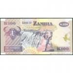 1992 - Zambia   Pic  38b   100 Kwacha  banknote