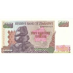 2001  - Zimbabwe   Pic  11a    500  Dollars  banknote