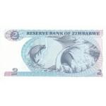 1983  - Zimbabwe   Pic  1b       2 Dollars  banknote
