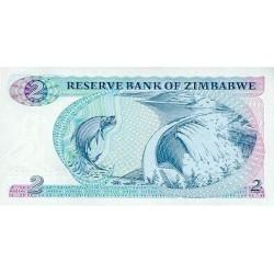 1994  - Zimbabwe   Pic  1c        2 Dollars  banknote