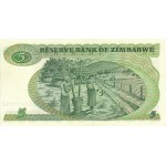 1983  - Zimbabwe   Pic  2c         5 Dollars  banknote