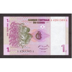 1997 - Congo, Rep.Dmoc. Pi c 80    1 Cent. banknote