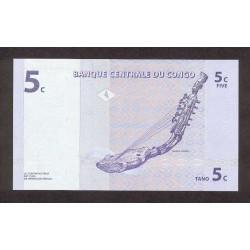 1997 - Congo, Rep.Dmoc. pic 81    5 Censt. banknote