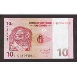 1997 - Congo, Rep.Dmoc. pic 82    10 Censt. banknote