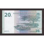 1997 - Congo, Rep.Dmoc. pic 83    20 Censt. banknote