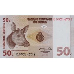 1997 - Congo, Rep.Dmoc. pic 84A   50 Censt. banknote
