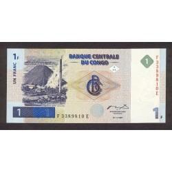 1997 - Congo, Rep.Dmoc. Pi c 85    1 franc banknote
