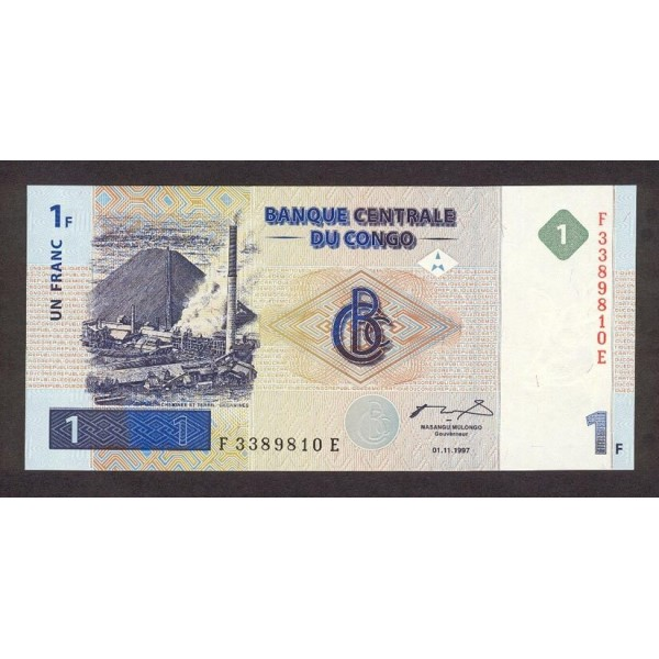 1997 -  Congo, Rep.Democ. Pic 85   billete de 1 Franco
