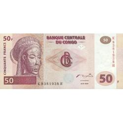 2000 - Congo, Rep.Dmoc. Pic 91  50 francs banknote
