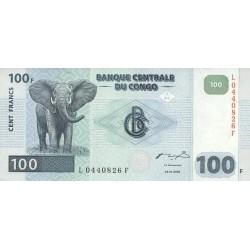 2000 - Congo, Rep.Dmoc. Pic 92  100 francs banknote