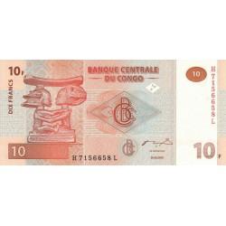 2003 - Congo, Rep.Dmoc. Pic 93  10 francs banknote