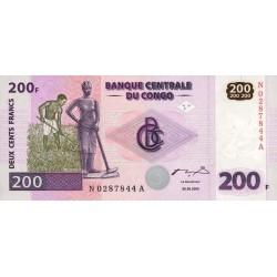 2000 - Congo, Rep.Dmoc. Pic 95  200 francs banknote