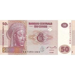 20007- Congo, Rep.Dmoc. Pic 97  50 francs banknote