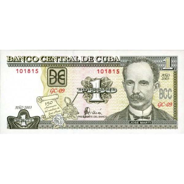 2003 - Cuba P121 billete de 1 Peso