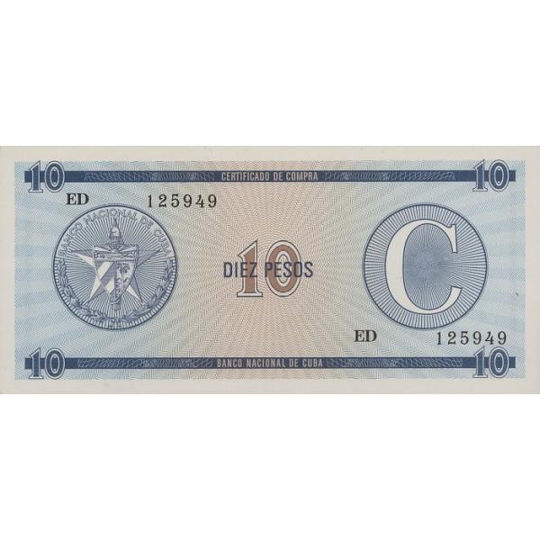 1985 - Cuba P-FX22  10 Pesos banknote