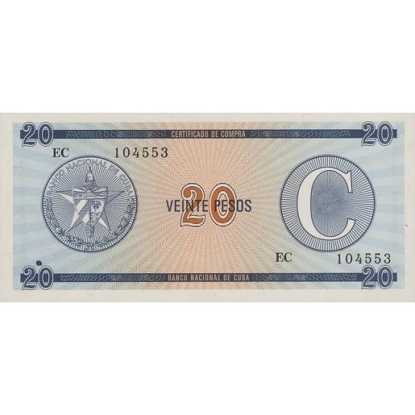 1985 - Cuba P-FX23 billete de 20 Pesos