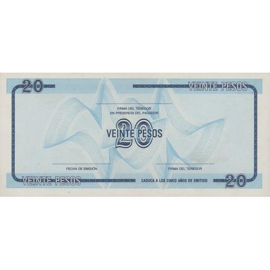 1985 - Cuba P-FX23 20 Pesos banknote