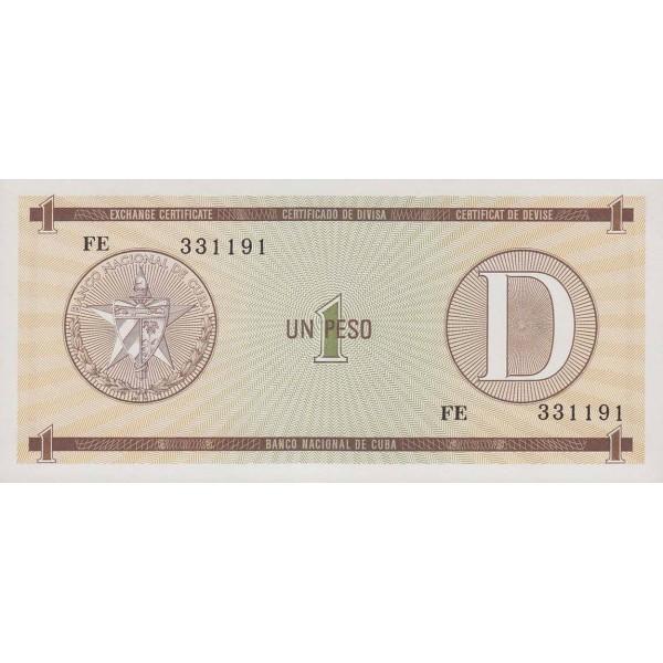 1985 - Cuba P-FX27 1 Peso banknote