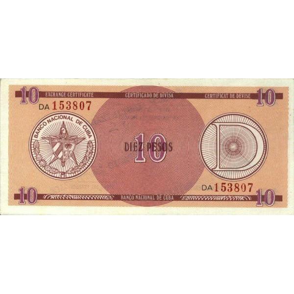 1985 - Cuba P-FX30 billete de 10 Pesos