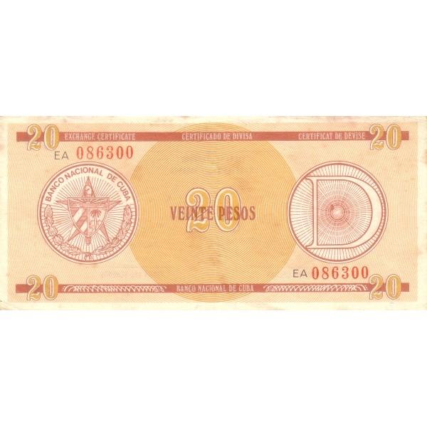 1985 - Cuba P-FX31 billete de 20 Pesos