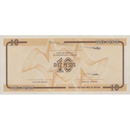 1985 - Cuba P-FX35 10 Pesos banknote