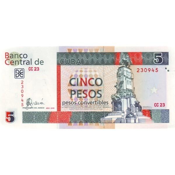 2006 - Cuba P-FX48 billete de 5 Pesos