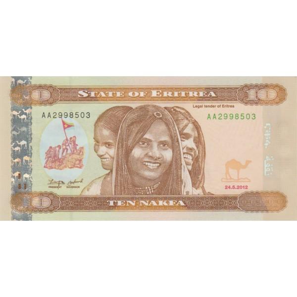 2012 -  Eritrea   pic 11  billete de   10 Nakfa