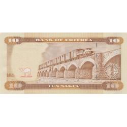 2012-  Eritrea PIC 11   10 Nakfa banknote
