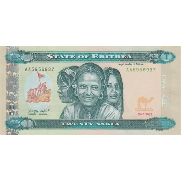 2012 -  Eritrea   pic 12  billete de   20 Nakfa