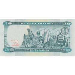 2012-  Eritrea PIC 12   20 Nakfa banknote