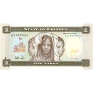 1997 -  Eritrea PIC 1     1 Nakfa banknote