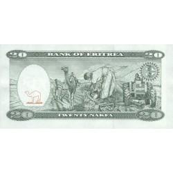 1997 -  Eritrea PIC 4    20 Nakfa banknote