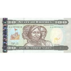 1997 -  Eritrea PIC 6    100 Nakfa banknote