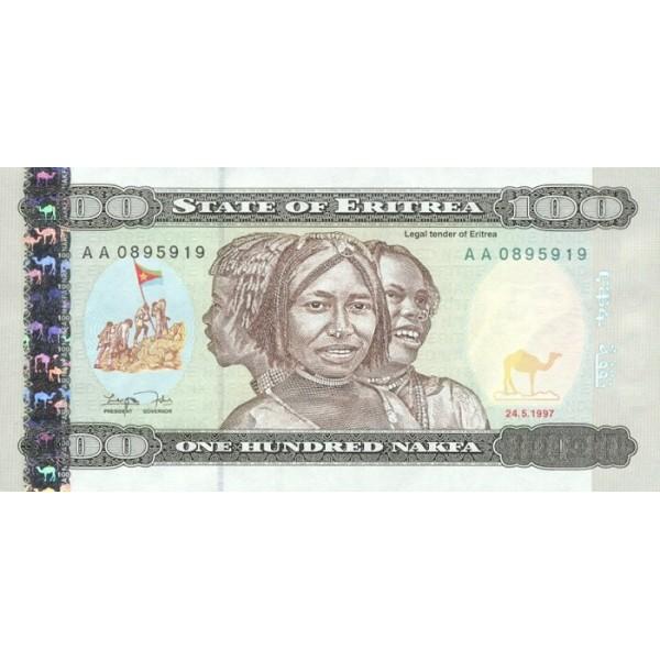 1997 -  Eritrea   pic 6  billete de   100 Nakfa