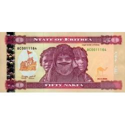 2004-  Eritrea PIC 7   50 Nakfa banknote