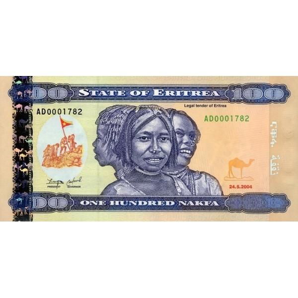 2004 -  Eritrea   pic 8  billete de   100 Nakfa