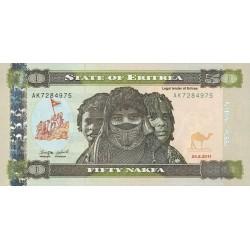 2011-  Eritrea PIC 9   50 Nakfa banknote