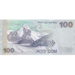 2002 Kyrgystan pìc21 billete de 100 Som