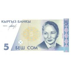 1994 - Kyrgyzstan Pic 8       5 Som banknote