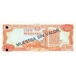 1991 - Dominican Republic P136s1 100 Pesos Oro Specimen banknote