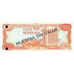 1991 - República Dominicana P136s1 billete 100 Pesos Oro Specimen