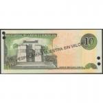 2001 - Dominican Republic P168s1 10 Pesos Oro banknote