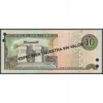2003 - República Dominicana P168s3 billete 10 Pesos Oro Specimen