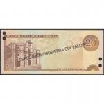 2001 - Dominican Republic P169s1 20 Pesos Oro banknote