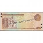 2003 - Dominican Republic P169s3 20 Pesos Oro banknote