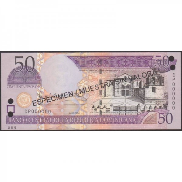 2004 - Dominican Republic P5170s4 50 Pesos Oro banknote