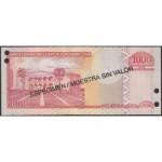 2003 - República Dominicana P173s2 billete 1000 Pesos Oro